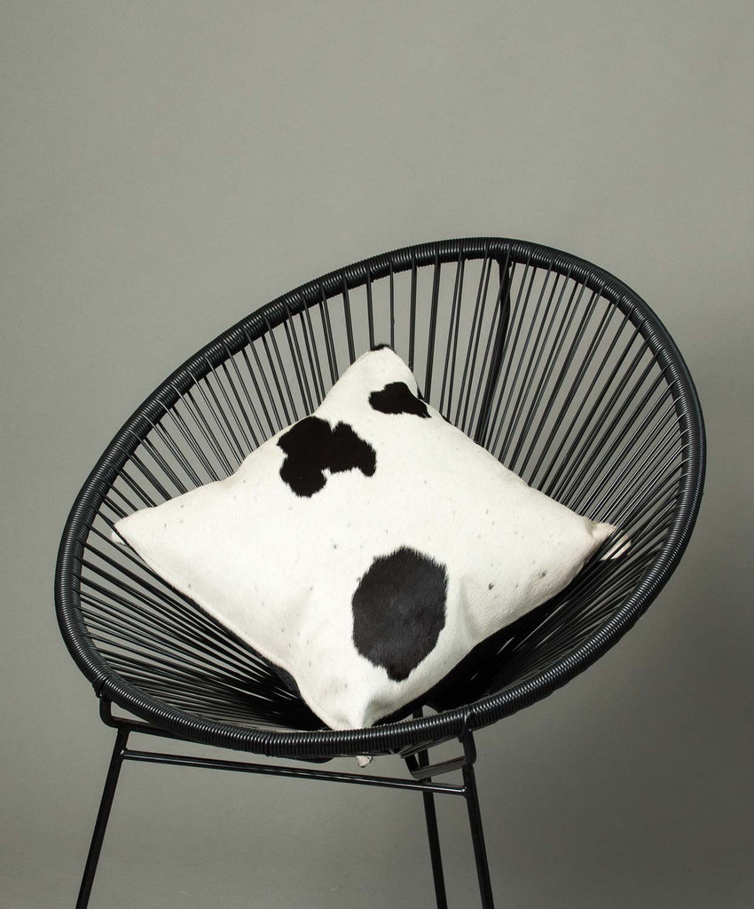 Cowhide Cushion Cover - Black and White #05