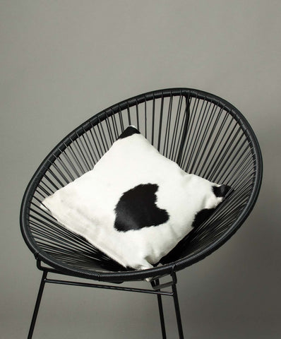 Cowhide Cushion Cover - Black and White #06