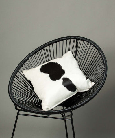 Cowhide Cushion Cover - Black and White #07