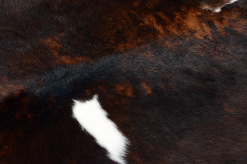Image of Calfskin Rug Dark Tri-colour
