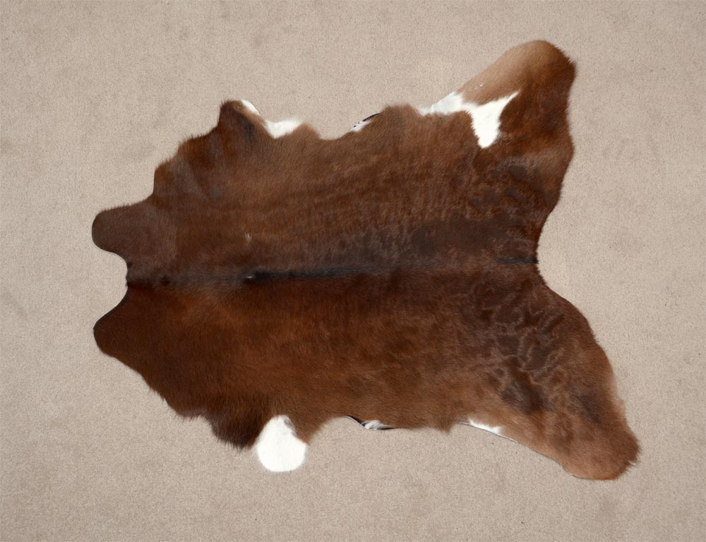 Calf skin rug chocolate brown