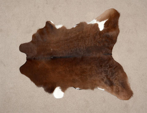 Image of Calf skin rug chocolate brown