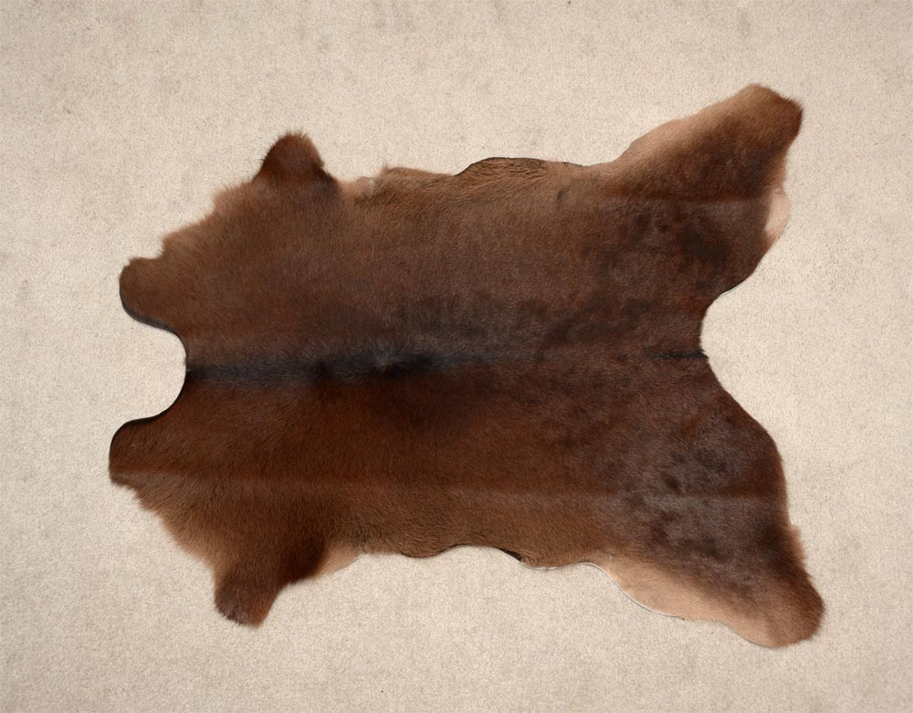 Calfskin Rug Chocolate Brown