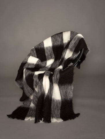 Windermere Friesian Check Brushed Alpaca Throw Blanket