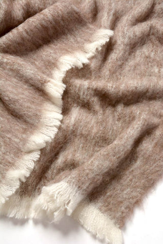 Image of Windermere Latte Brushed Alpaca Throw Blanket