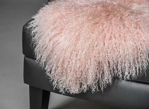Image of Blush Pink Tibetan Lamb Skin