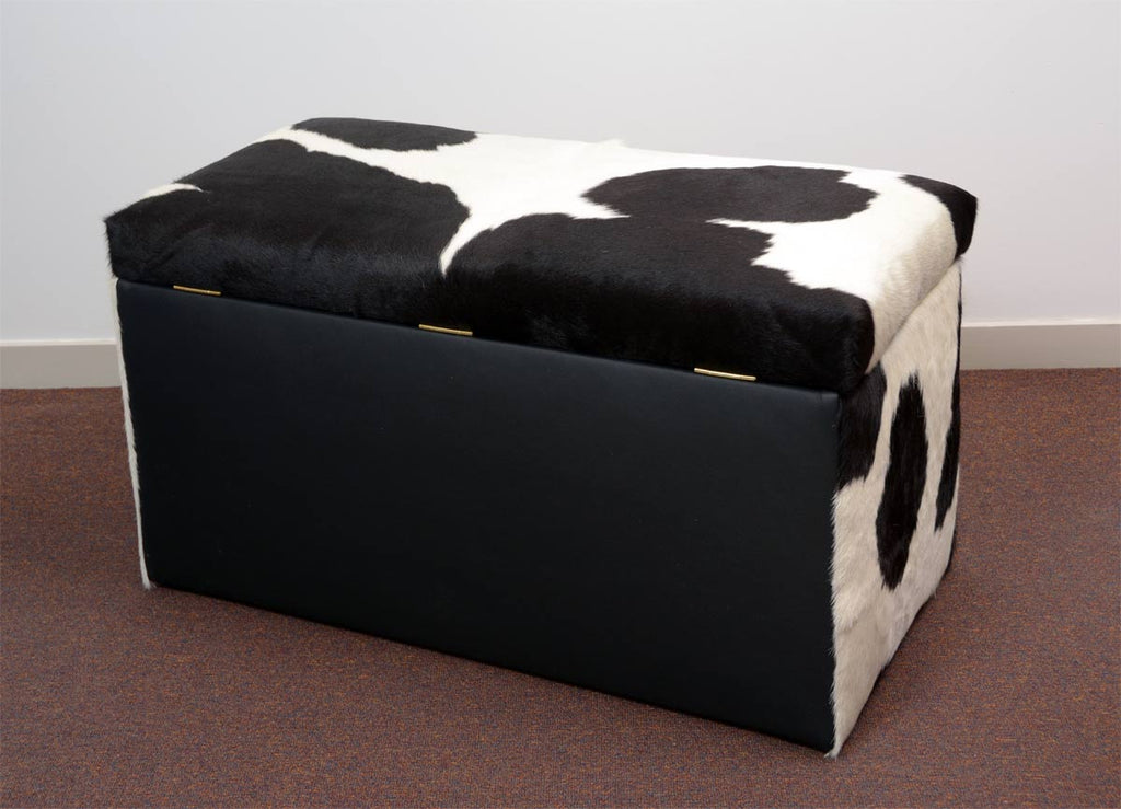 Sensational Storage Furniture Or Blanket Box Covered In Cowhide 90X50X45Cm 3 Ncnpc Chair Design For Home Ncnpcorg