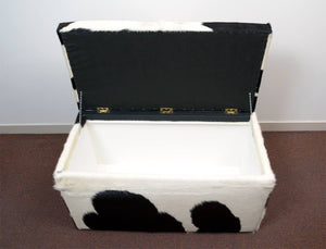 Storage Furniture or Blanket Box Covered in Cowhide 90x50x45cm #3