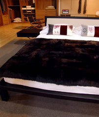 Blackish Brown Possum Fur Blanket
