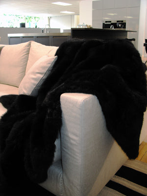 Black Possum Fur Throw