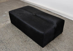 Cowhide Ottoman Solid Deep Rectangle with Low Glides 120x60x34cm