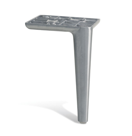 Image of Borsari Aluminium Ottoman Legs 13cm Tall - Brushed Matt