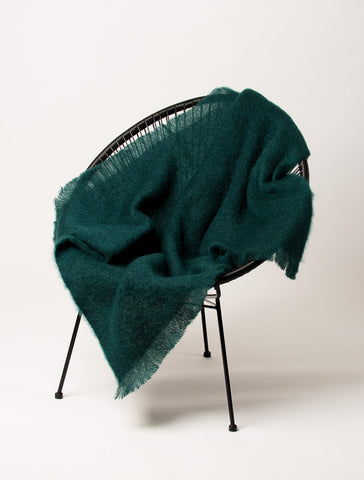 A Windermere mohair throw Bottle Green