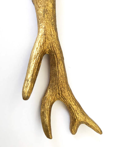 Image of Gold Magnetic Metal Deer Antler Bottle Opener