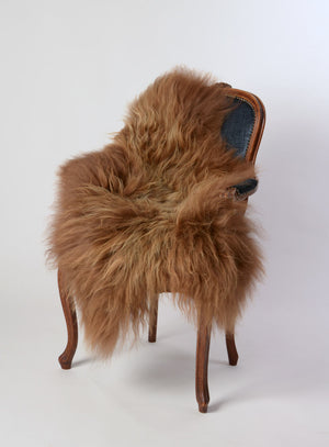 Chestnut brown Icelandic sheepskin rug