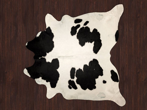 Image of Black and White Cowhide Rug