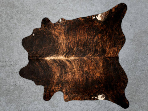 Dark Exotic Chestnut Cowhide Rug