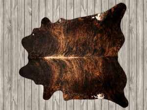COW3143 Cowhide Rug Dark Chestnut Exotic 3.80msq