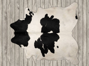 COW3160 Cowhide Rug Black & White 3.70msq