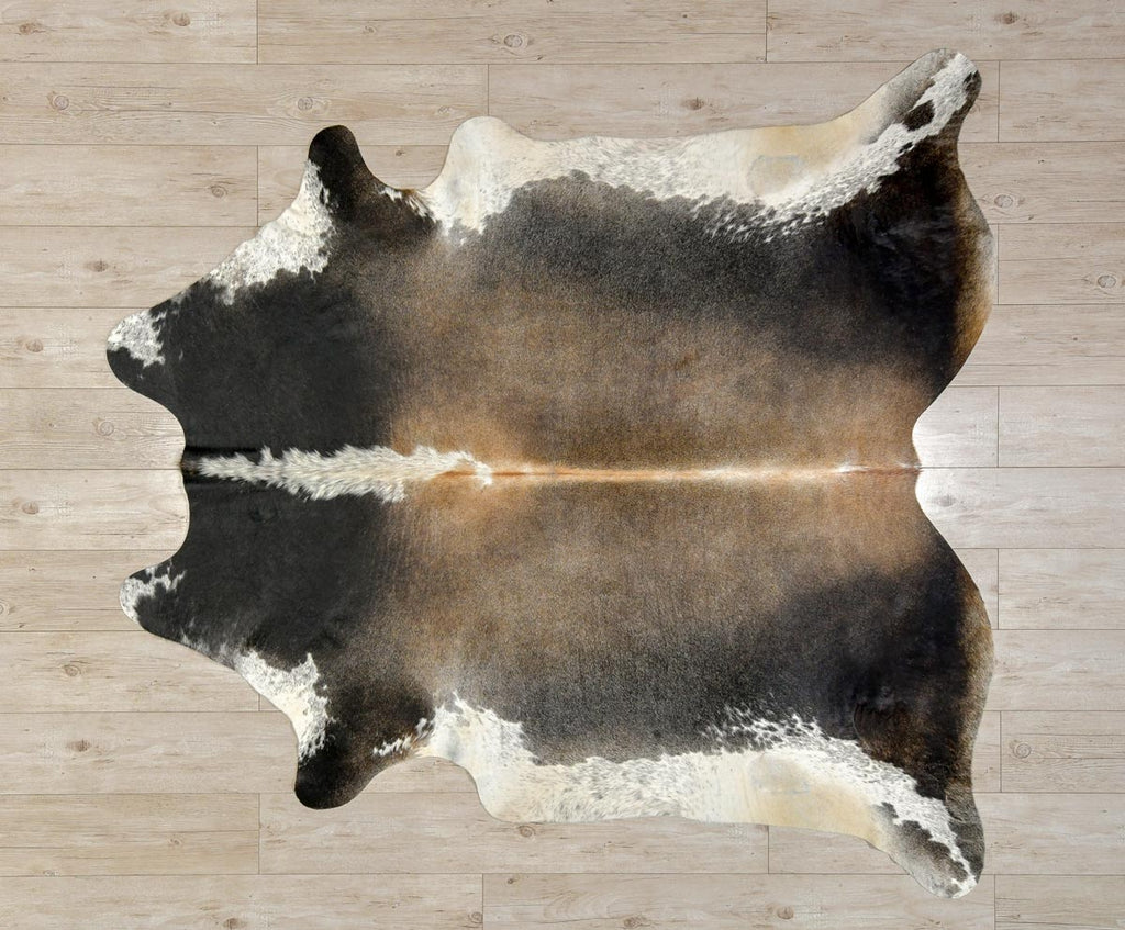 Cowhide Rug Grey Brown Roan