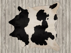 COW3166 Cowhide Rug Black & White 3.90msq