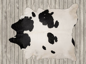 COW3175 Cowhide Rug Black & White 4.20msq