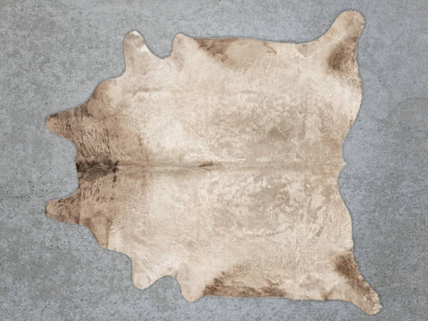 Image of Cowhide Rug Taupe Beige Murray Grey