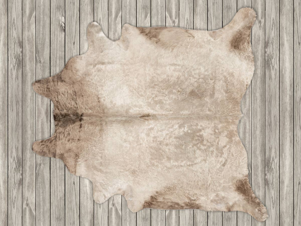 Cowhide Rug Taupe Beige Murray Grey