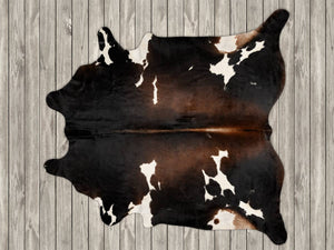 COW3181 Cowhide Rug Chocolate & White 4.10msq