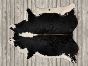 COW3182 Cowhide Rug Black & White Hereford 3.70msq