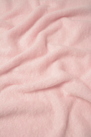 Image of Windermere Candy Floss Pink Mohair Throw Blanket