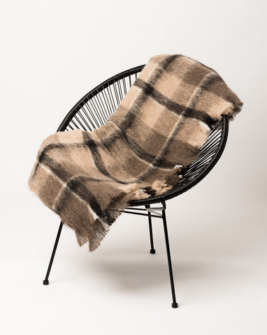 Canterbury Check Brushed Alpaca Throw Blanket