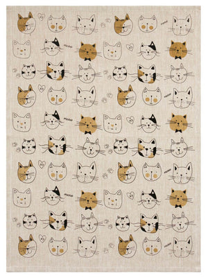Cat Lovers Tea Towel