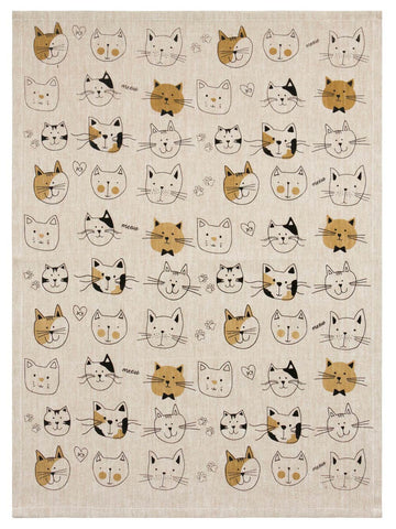 Image of Cat Lovers Cotton Tea Towel