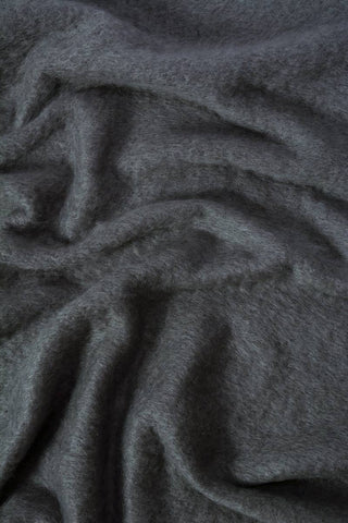 Image of Windermere Charcoal Grey Mohair Chair Throw