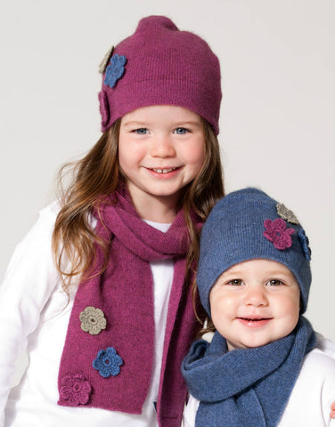 Kids Flower Hat or Scarf