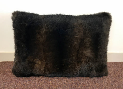 Image of Chocolate Brown Possum Fur Cushion Cover