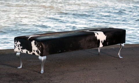 Image of Cowhide bench seat ottoman New Zealand