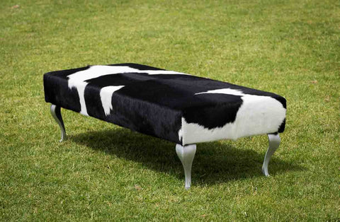 Image of Cowhide bench seat ottoman Australia