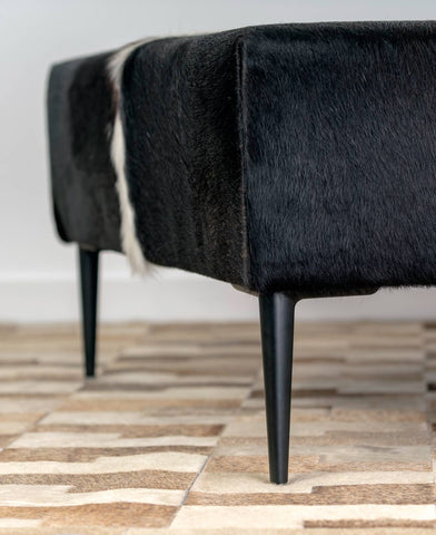 Black metal furniture legs