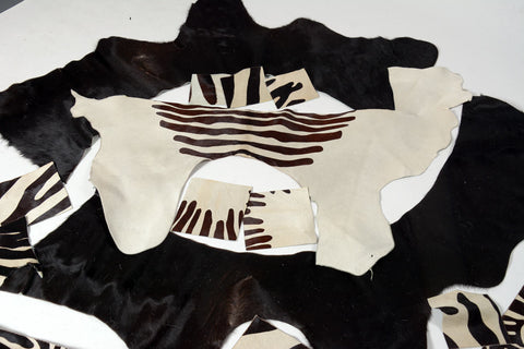 Bag 2 - Cowhide Off-Cuts Mixed Colours