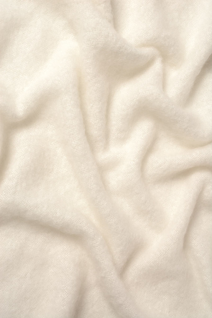 Windermere Cream Mohair Chair Throw