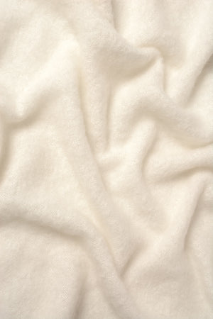 Cream Mohair Chair Throw