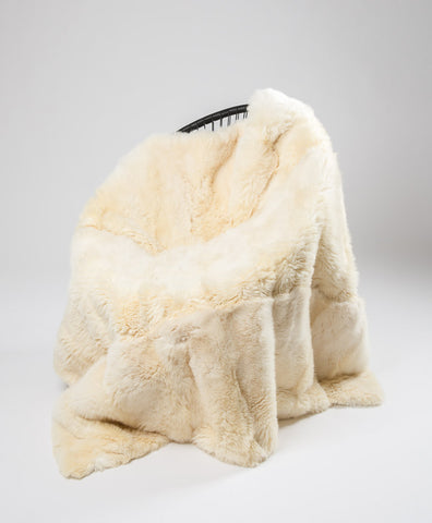 Image of Cream Possum Fur Throw