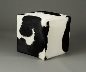 Cowhide Cube #9 & #10 with Invisible Button Glides 46x46x46cm