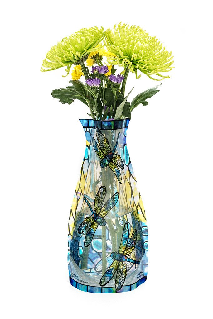 Expandable Flower Vase - Tiffany Dragonfly