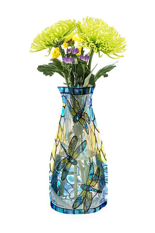 Plastic Expandable Flower Vase - Tiffany Dragonfly