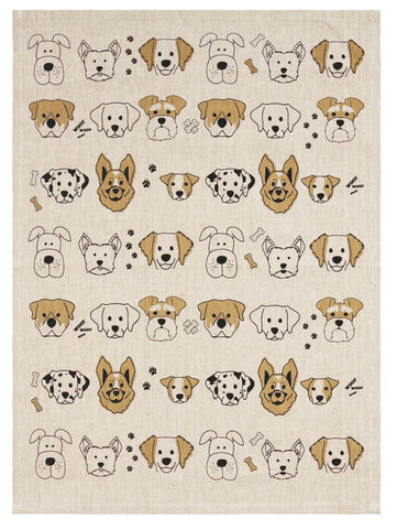 Image of Dog Lovers Cotton Tea Towel