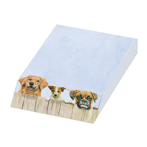 Nosey Neighbour Dogs Slanted Paper Note Pad