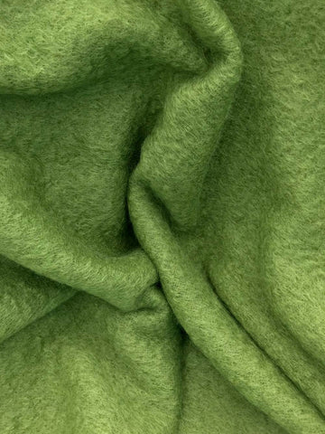 Fern green mohair wool chair throw